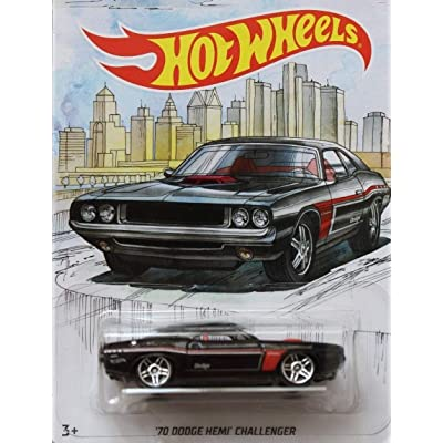 Detroit MUscle HOT Wheels Walmart Exclusive Black '70 Dodge HEMI Challenger DIE-CAST, WAL-MART Exclusive 1970 Dodge HEMI Challenger: Toys & Games