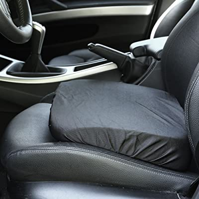 Bandwagon Adult/Driver Car Booster Seat for Visibility - Soft Comfortable Black Poly Cover: Home & Kitchen