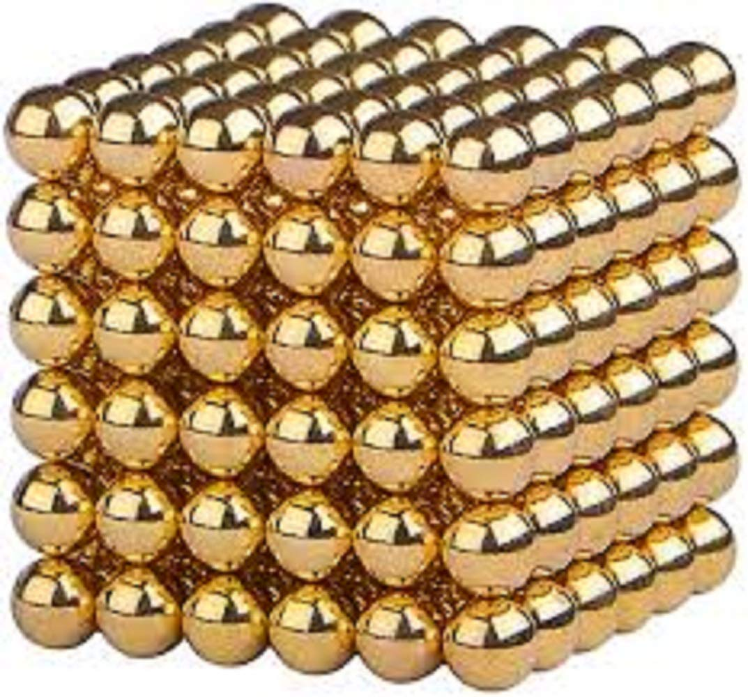Office Toy Stress Relief Adults Rollable Mashable Smashable Gold KlikyBalls Buildable Magnetic Blocks Magnetic Balls Sculpture Building Blocks Intelligent Learning