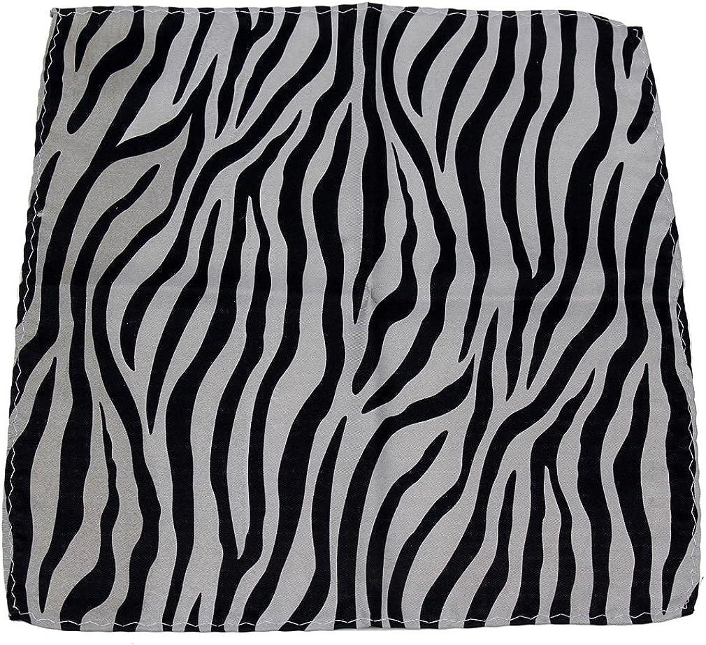 New polyester zebra animal print pocket square hankie handkerchief tan beige