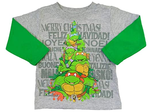 Amazon tmnt infant toddler boys merry christmas teenage tmnt infant toddler boys merry christmas teenage mutant ninja turtles t shirt sciox Image collections