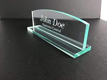 acrylic office desk. personalized office desk name plate 38u0026quot glasslike acrylic customized round g