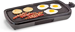"DASH DEG200GBGY01 Everyday Electric Griddle, 19.75"" x 9.5"", Grey"