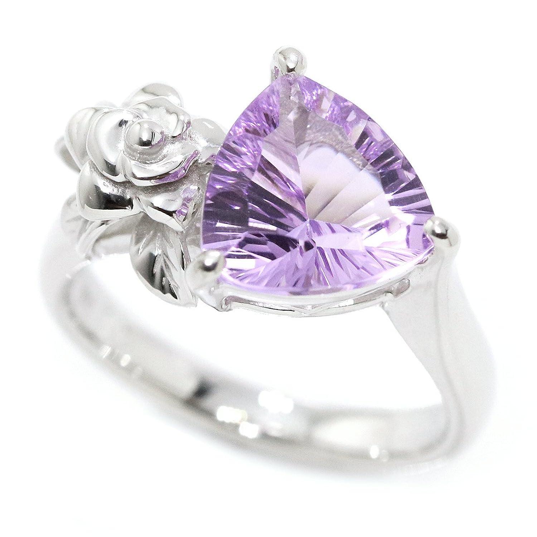 クリスティーナ ハン アメジスト 2.35ct 薔薇 リング 11号 K18WG 18金ホワイトゴールド 指輪 Christina Han 90049358 B07DLQP1GL