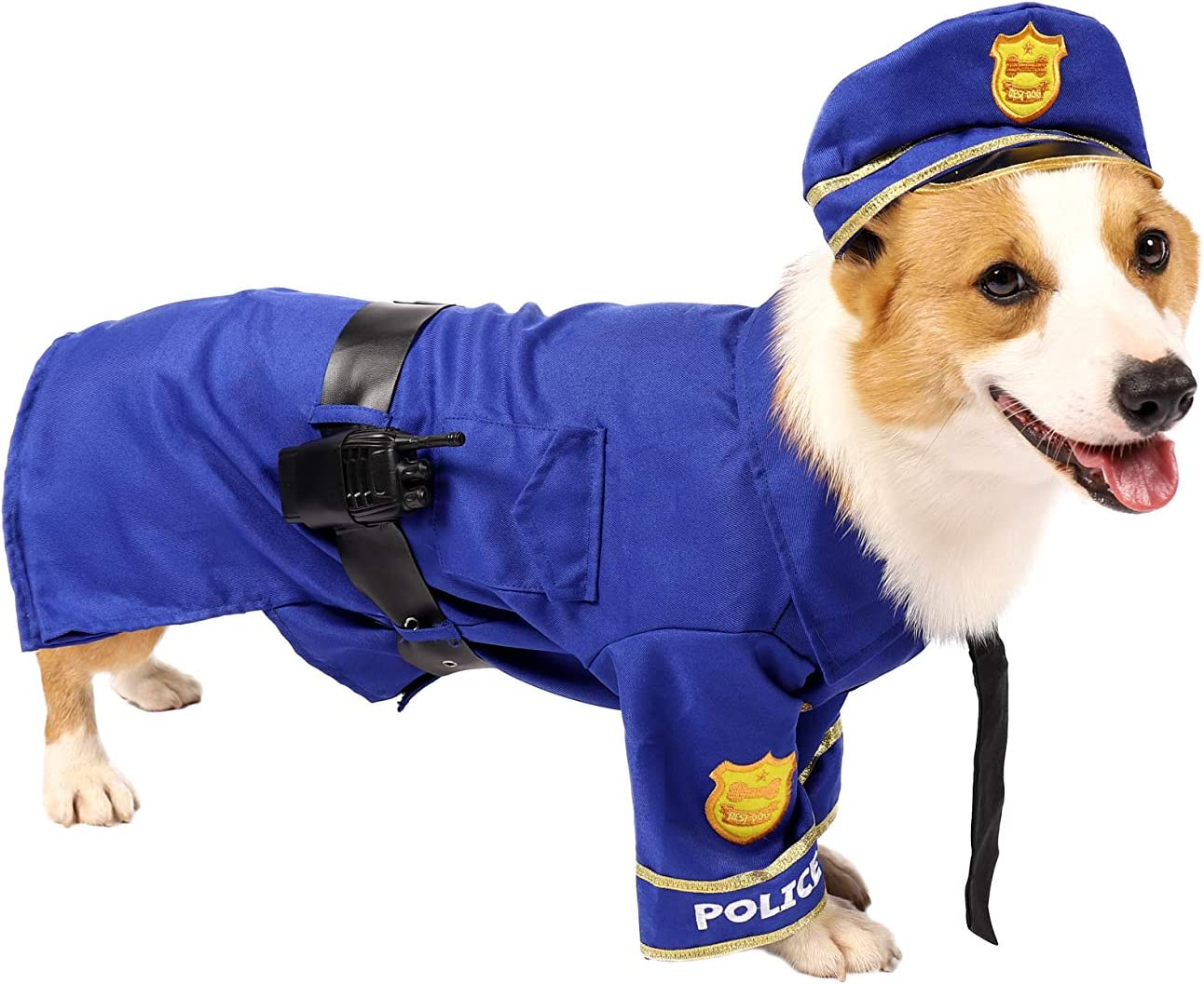 Holiday Decorations Clothes Spooktacular Creations Halloween Police Dog Pet Costume for Halloween Dress-up Party Carnival Cosplay Role Play