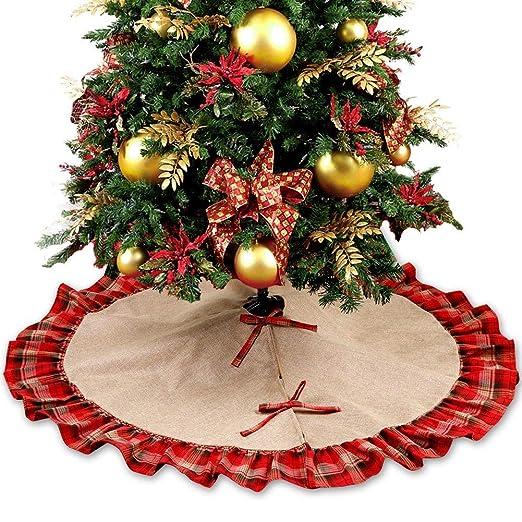 Tenrany Home Yute Falda de Árbol de Navidad, 48 Pulgadas Grande ...