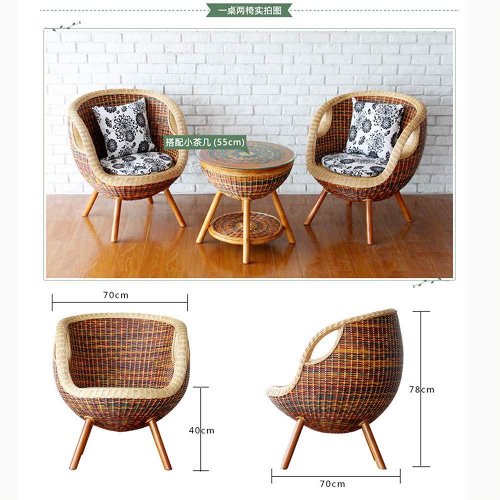 Amazon.com - SEEKSUNG Chair, Handmade Pe Rattan Woven Chair ...