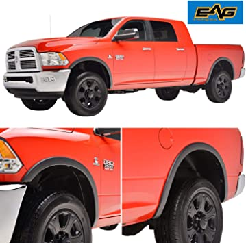 Paintable Black EAG Front Rear Full Fender Flares Fits 2019 Dodge Ram 1500