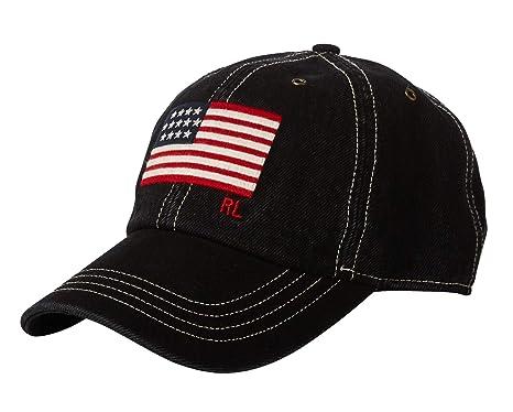 4023dbf04da21 Polo Ralph Lauren Men`s Leather Strap Embroidered Chino Baseball Cap  (Black(0001