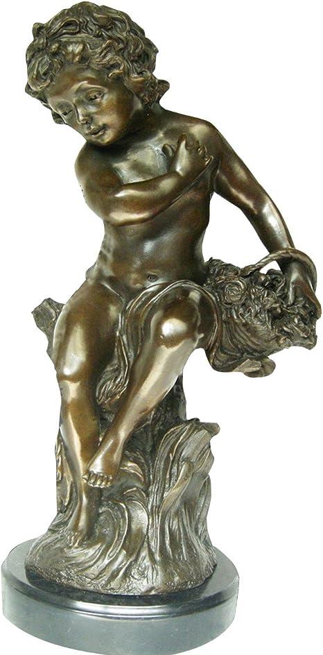 Amazon Com Toperkin Angel Boy Bronze Statues Myth Metal Sculpture Home Decor Home Kitchen