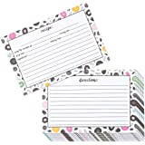 60-Pack Kitchen Recipe Cards - Double-Sided Recipe Note Cards with Floral Designs, 4 x 6 Inches