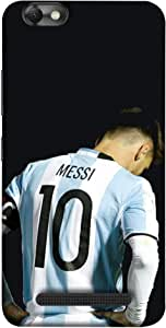 ColorKing Football Messi Argentina 14 Black shell case cover for Lenovo Vibe C