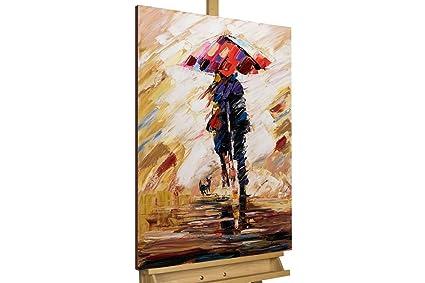 KunstLoft® cuadro acrílico Under the Umbrella 60x90cm   Original pintura XXL pintado a