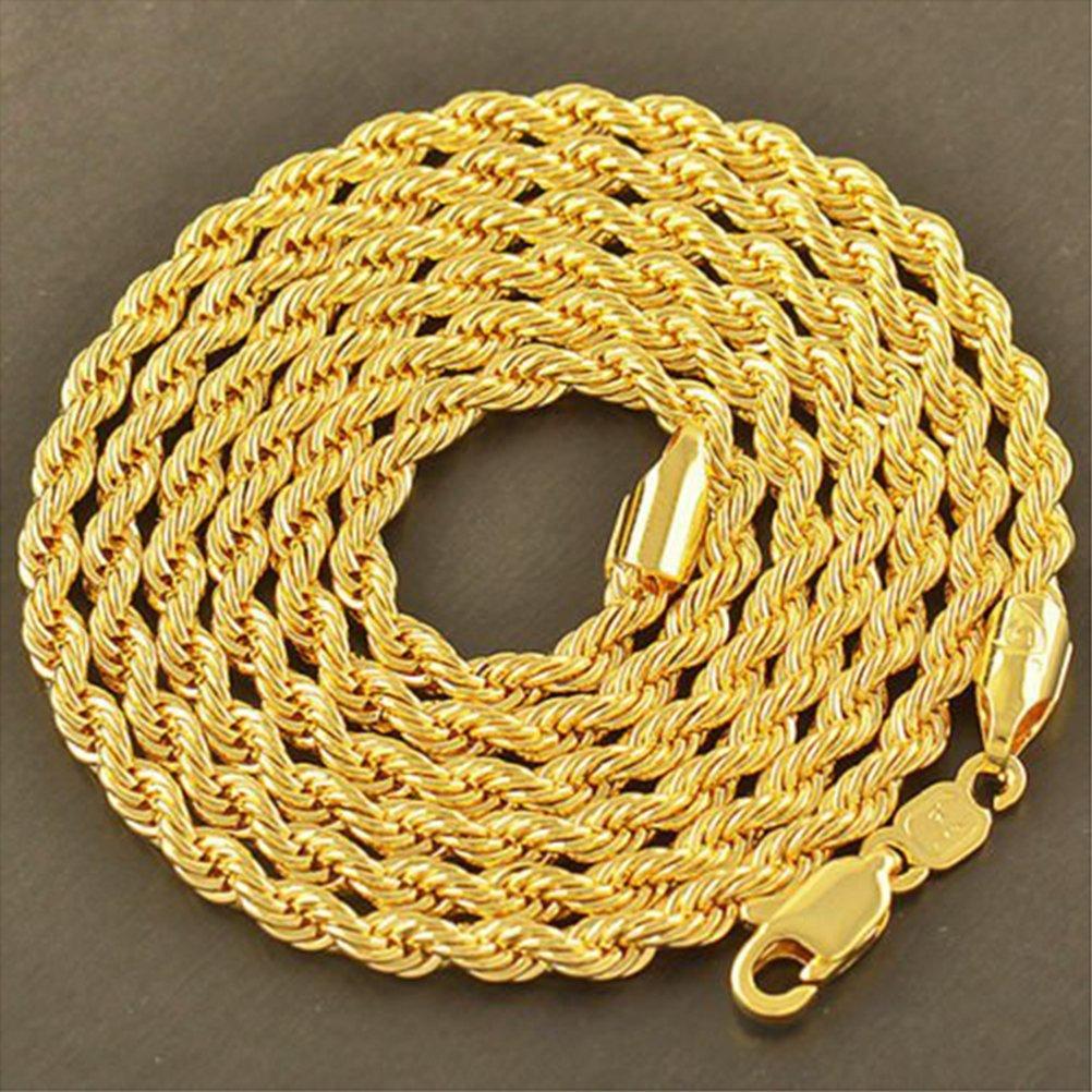 dor/é Winomo Collier homme plaqu/é or 24/carats Style/pivotant