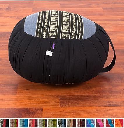 Leewadee Meditation Cushion Zafu, 16x8 inches, Kapok Fabric
