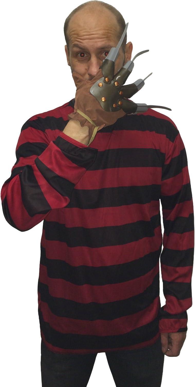 shootingduck.com - Disfraz de Freddy Krueger para adulto (camiseta ...