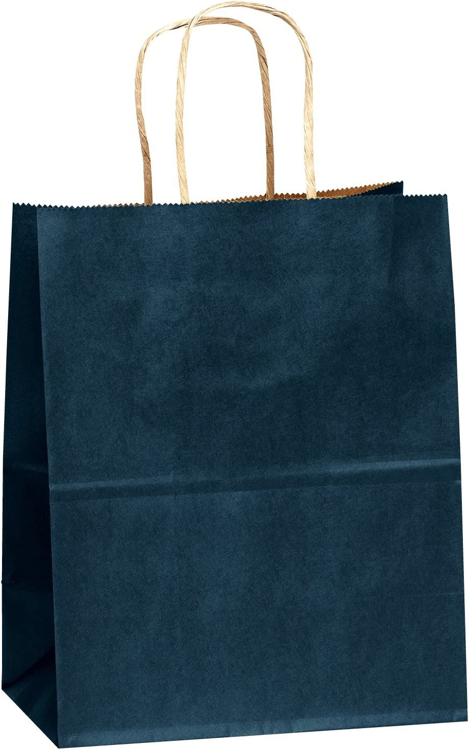 Flexicore Packaging Navy Blue Kraft Paper Bags Size 100 Bags Count 8 Inch X 4.75 Inch x 10.25 Inch Navy Blue Color
