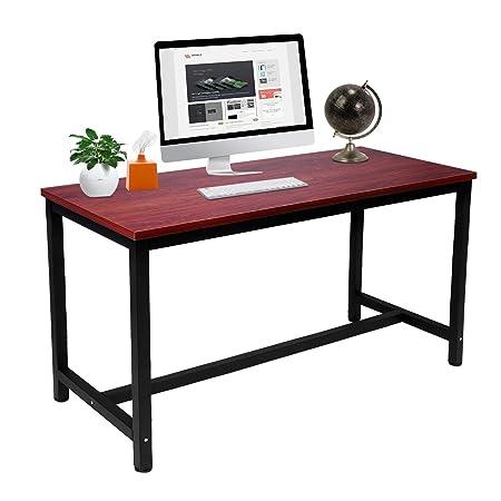 Mesa de Escritorio Estable y Duradera para Oficina en casa, Gran ...
