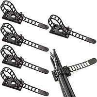Fodlon 50 Stks Verstelbare Zelfklevende Nylon Kabelbinders, Kabelklemmen Kabelklemmen Snoerklem Nylon Kabelriemen…