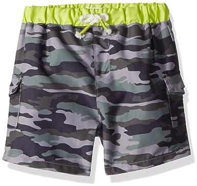 69886f2a15a79 Amazon.com: Mud Pie Baby Boys Camo Nylon Swim Trunks: Clothing