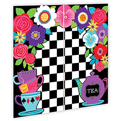 5ft Mad Hatter Tea Party Wall Decoration Kit Surprise Selfie Backdrop Party Kit Set Decoration Pack: Toys & Games [5Bkhe1106698]