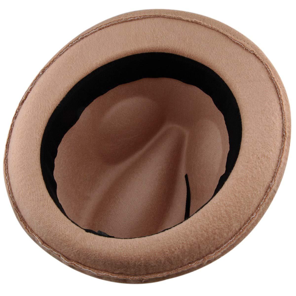 3d15329d5e8a86 Samtree Fedora Hats for Women,Winter Roll-up Brim Trilby Woolen Jazz ...