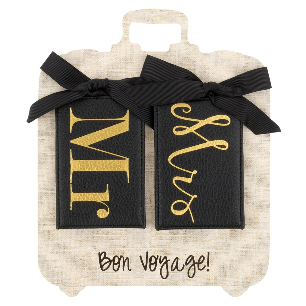Mainstreet Collection Mr & Mrs Black Luggage Tag Set