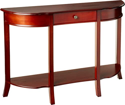 Frenchi Home Furnishing Console Sofa Table with Drawer, Mahogany