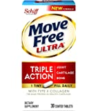 Move Free Ultra UC-II Collagen and Hyaluronic Acid Joint Supplement, 120 Count , Move-e4