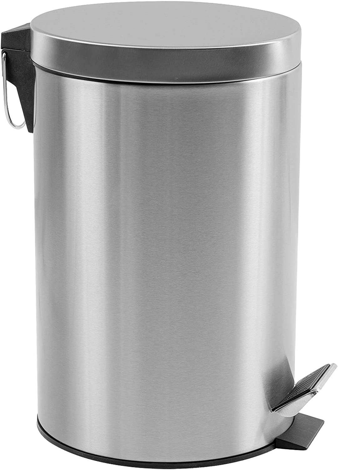 Estilo Round Brushed Stainless Steel Step Trash Can 5L - Fingerprint Resistant