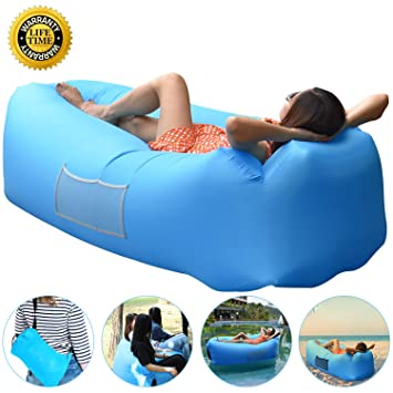 Anglink Inflatable Lounger Portable Air Sofa Couch Bed Nylon