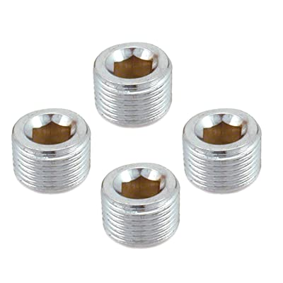 "Spectre Performance 6058 Chrome 3/8"" NPT Pipe Plug, (Pack of 4): Automotive"