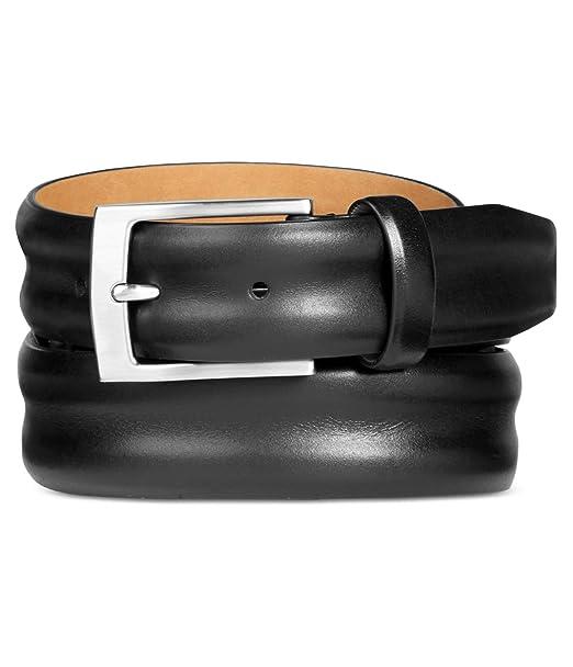 Black 32 Tasso Elba Mens Italian Vachetta Grain Belt