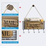 SRIWATANA Rustic Mail Key Holder, Mail Organizer