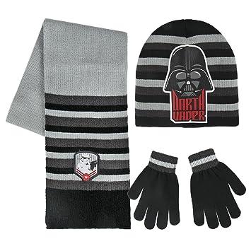 Star Wars 2200002553 Darth Vader and Storm Trooper Children s Winter Set  Includes Beanie Hat Gloves 0733c14751dc