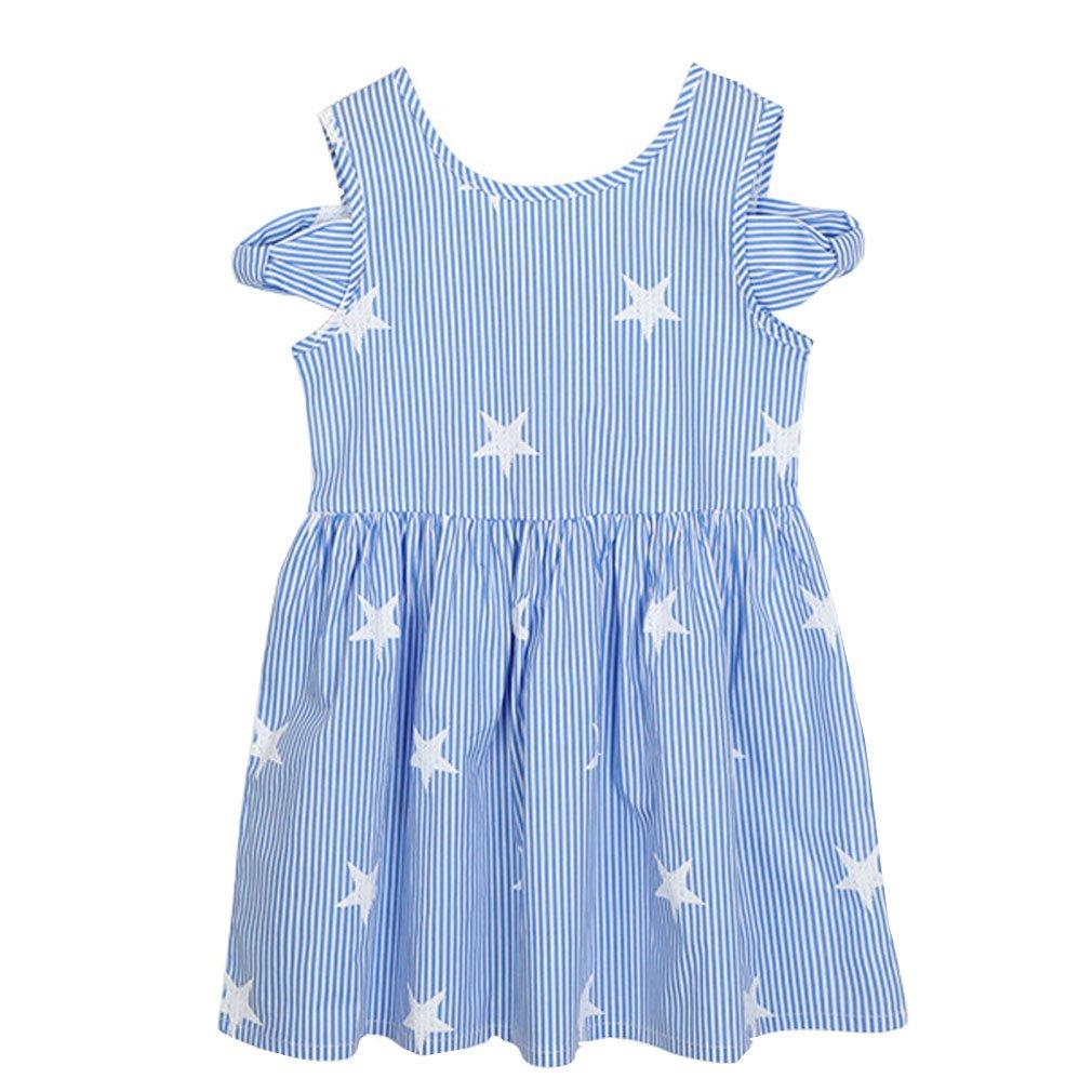 Kleid Dress Kinder 4-13 Jahre Kalte Schulter Chiffon Kleidung Prinzessin