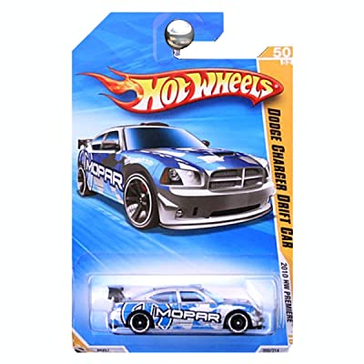 Hot Wheels 2010 New Models 43/44 Silver & Blue Dodge Charger Drift CAR: Toys & Games