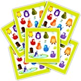 Monster Stickers Party Favors Pack Kids Toddlers -- Over 600 Monsters Stickers (24 Sheets, Monster Party Supplies)