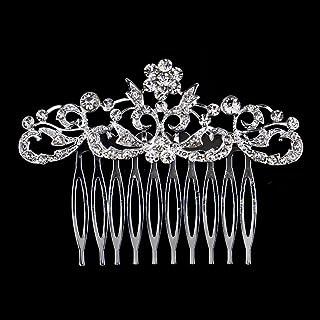 Clearine Femme Boh/ême Mariage Noces Autrichien Cristal Olive Feuille Perle Artificielle R/églable Aurore Bor/éale Cheveux Bandeau