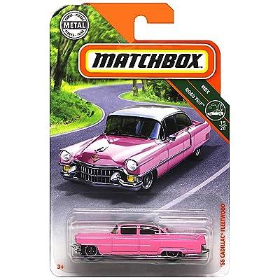 Matchbox 2020 MBX Road Trip '55 Cadillac Fleetwood 11/100, Pink: Toys & Games