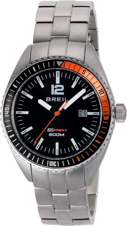 Reloj BREIL por Hombre Midway con Correa de Acero, Movimiento Time Just - 3H Cuarzo
