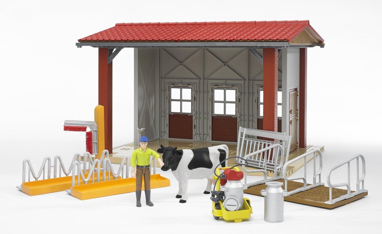 Bruder - Cobertizo de ganado con figura, accesorios (62621): Amazon.es: Juguetes y juegos