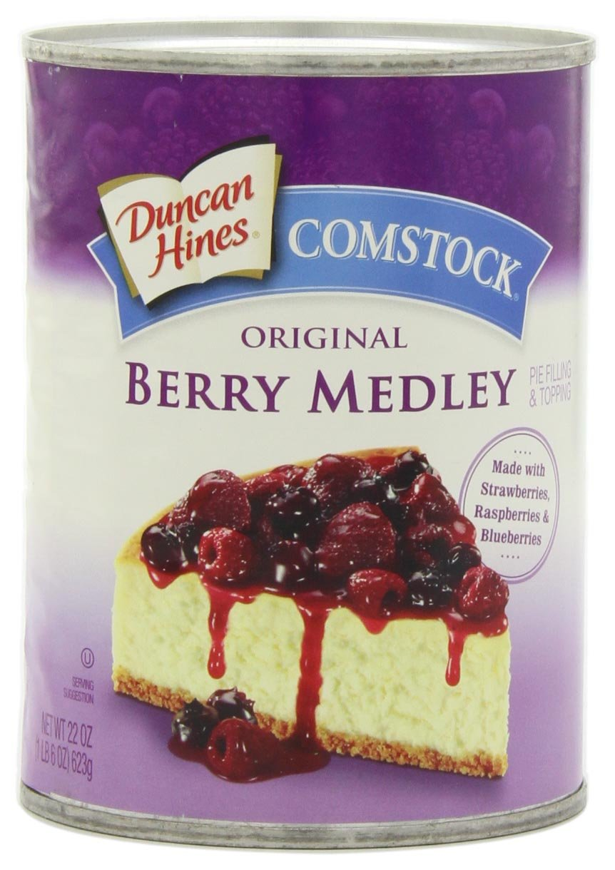 Comstock Berry Medley Pie Filling and Topping, 22-Ounce (Pack of 4)