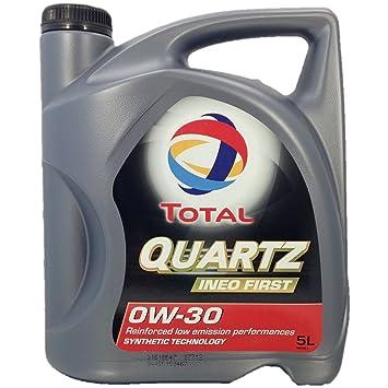 Total Quartz Ineo First 0W-30 Aceite de Motor para Coche, 5 Litros