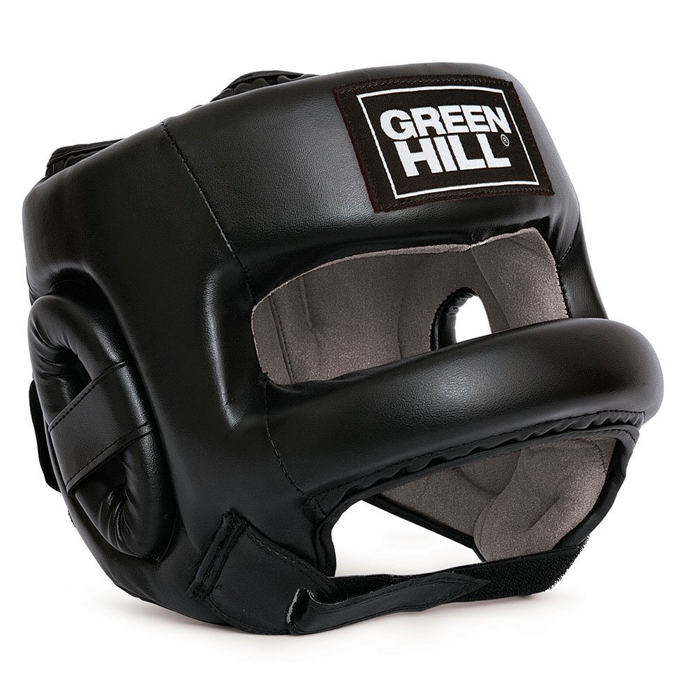 Greenhill Castle Leather Head Guard Thai Kick Boxing Fighting and Combat Training Semi Contact Kick Boxing Head Gear for Boxing