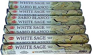 Bestthing Hem White Sage Incense Bulk 6 x 20 Stick (120 Sticks)