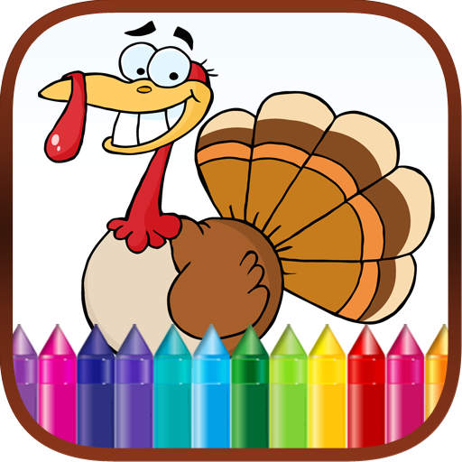 Thanksgiving Finger Paint Coloring Book Game for ()