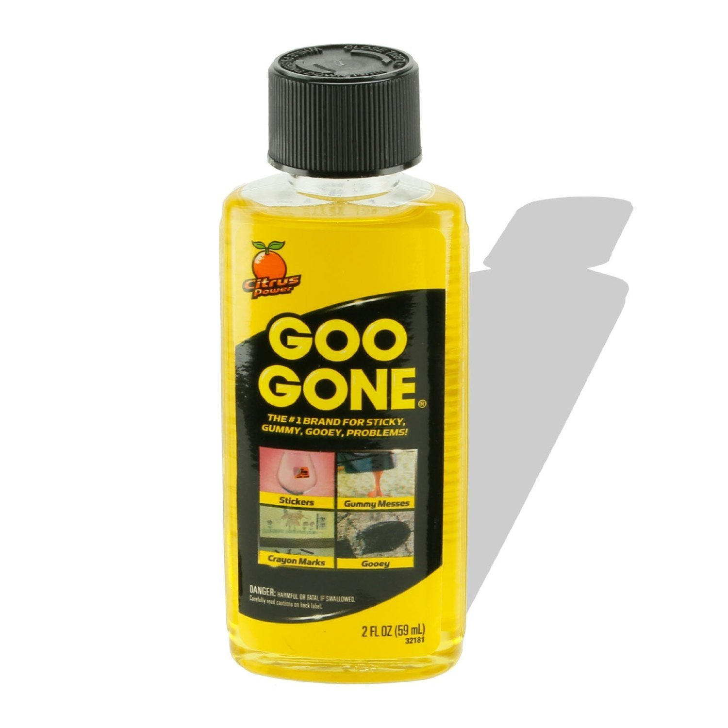 Goo Gone - 2oz Bottle - Citrus Scented - Cuts Grease, Oil, Gum, Adhesive Residue(pack of 3)