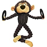 Destiny Plush Dog Toys with Squeakers Interactive For Aggressive Chewers Small Large Pet Toys Cow Bear Monkey