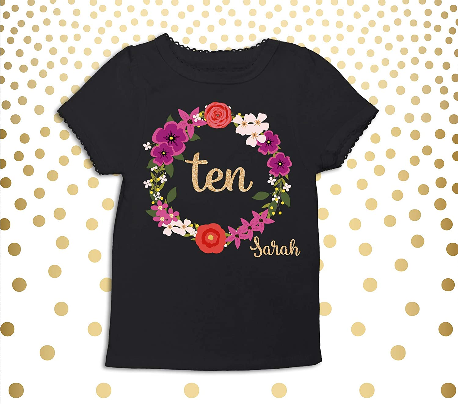Amazon Girls 10th Birthday Outfit Ten Shirt Nine 10 Year Old Party Bday Handmade